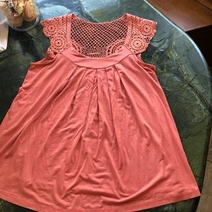 Lush size small coral top